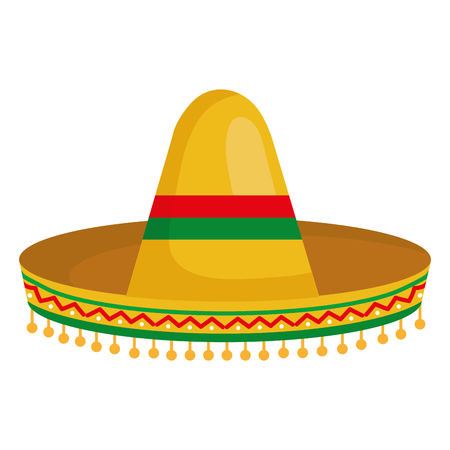 Mexican classic hat vector illustration design