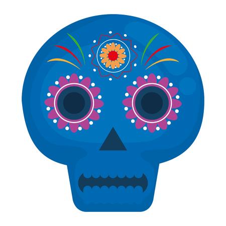 Death day mask celebration vector illustration design