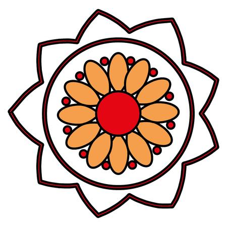 flower ethnicity decorative icon vector illustration design Stock Illustratie