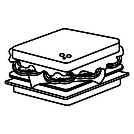 delicious sandwich fast food icon vector illustration design