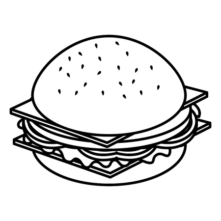 delicious burger isolated icon vector illustration design Ilustracja