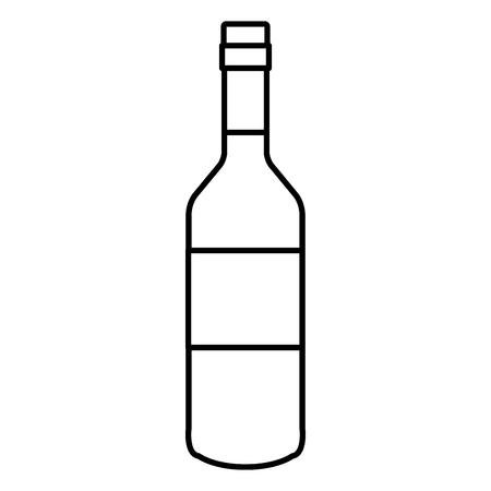 wine bottle drink icon vector illustration design 向量圖像