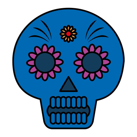 Death day mask celebration vector illustration design. Foto de archivo - 99312572