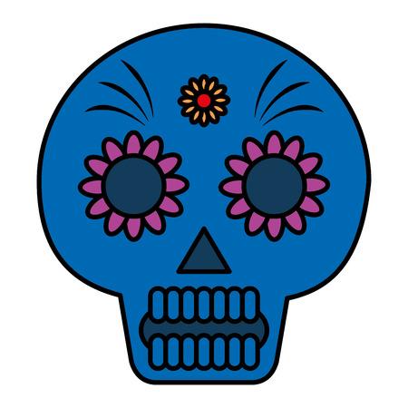 Death day mask celebration vector illustration design. Illustration