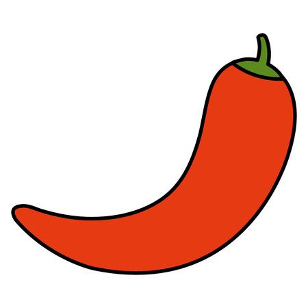 Chili pepper hot vegetable vector illustration design. Ilustração