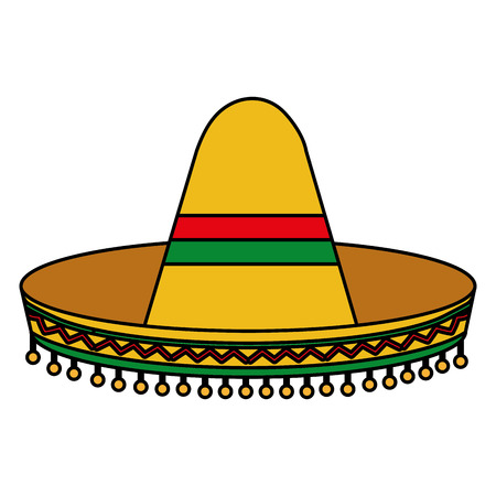 Mexican culture classic hat vector illustration design.