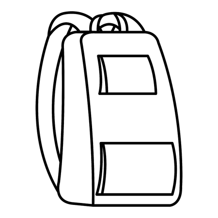 school bag isolated icon vector illustration design