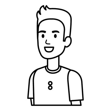 Young man avatar character vector illustration design. 矢量图像