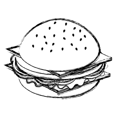 delicious burger isolated icon vector illustration design 일러스트