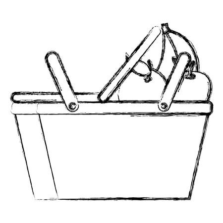picnic basket with fruits vector illustration design Illustration