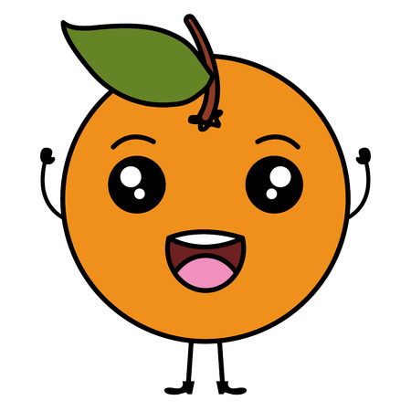 orange citrus fruit character vector illustration design Illustration