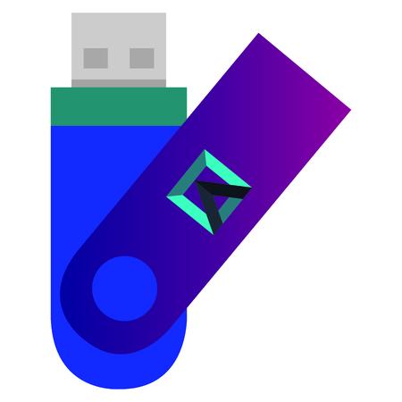 usb memory corporate icon vector illustration design Stock Vector - 99236925