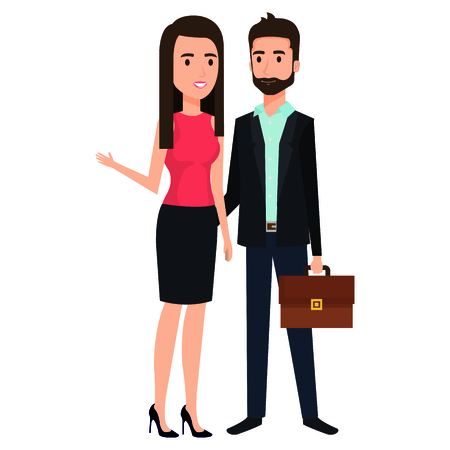 business couple avatars characters vector illustration design Stock Vector - 99443768
