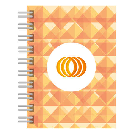 corporate notebook company icon vector illustration design