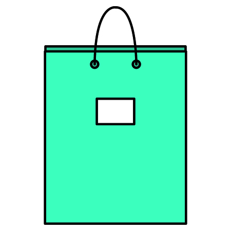 corporate company shopping bag vector illustration design