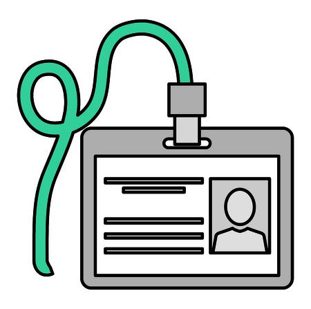 safety id document icon vector illustration design