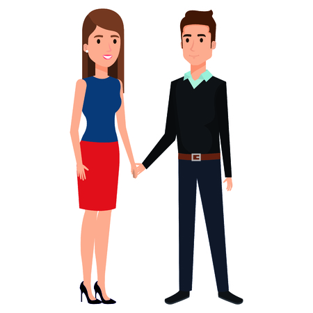 business couple avatars characters vector illustration design Stock Vector - 99236978