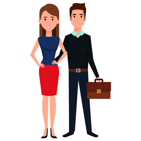 business couple avatars characters vector illustration design Stock Vector - 99236999