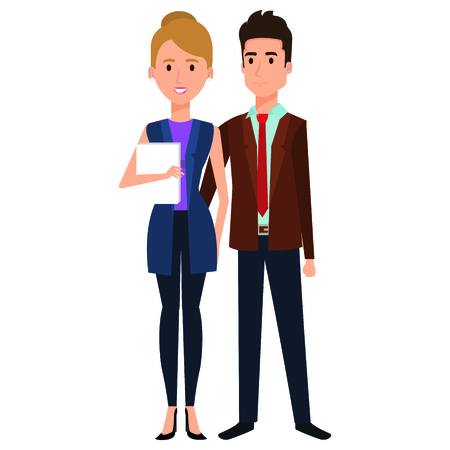 business couple avatars characters vector illustration design Stock Vector - 99237005
