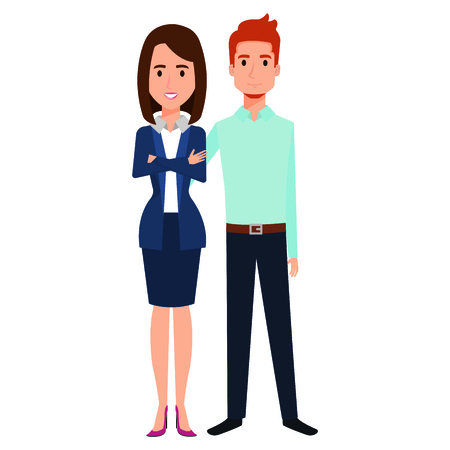 business couple avatars characters vector illustration design Stock Vector - 99237006