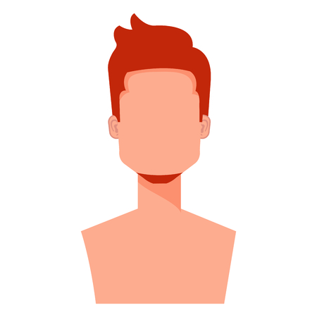 young man with beard shirtless avatar character vector illustration design Stock Vector - 99238592
