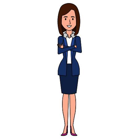 Geschäftsfrau avatar Zeichen-Symbol Vektor-Illustration , Design , Standard-Bild - 99238715