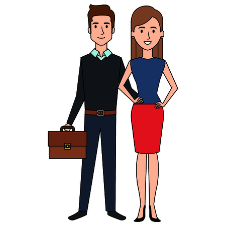 A business couple avatars characters.