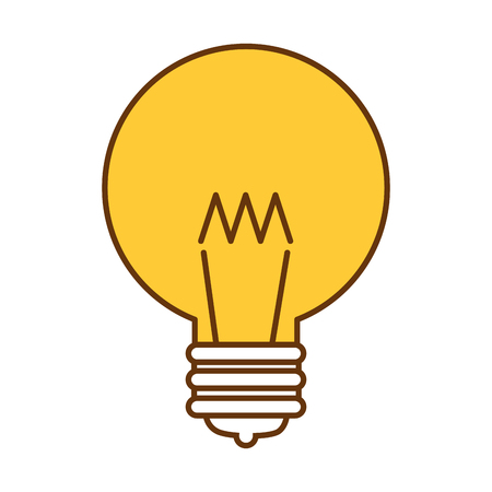 A ligth bulb as an idea icon.