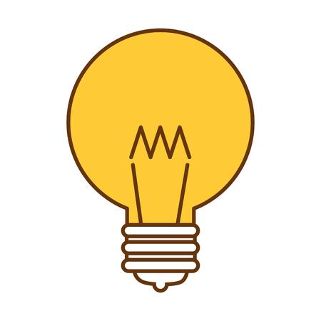 A ligth bulb as an idea icon.