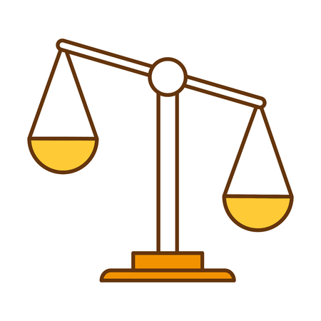 A weighing scale as a justice icon.
