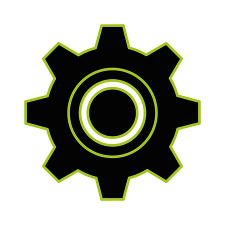 Gear machine isolated icon vector illustration design Foto de archivo - 99291489