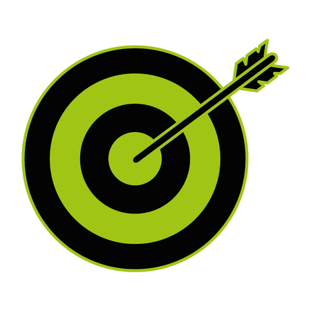 Target arrow isolated icon vector illustration design Banco de Imagens - 99291490