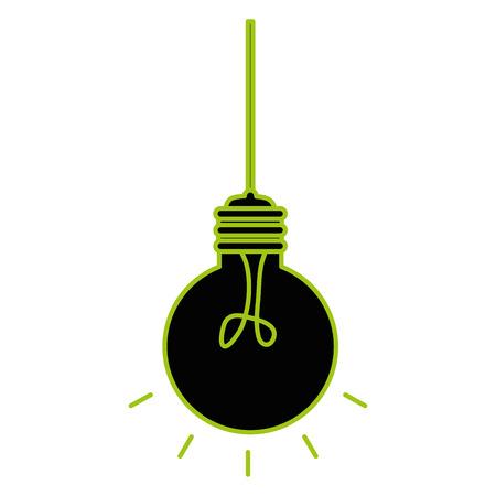 Bulb light hanging idea icon vector illustration design Illustration