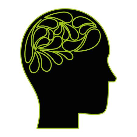 human profile thinking icon vector illustration design