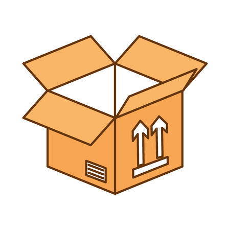box carton isolated icon vector illustration design