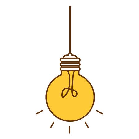 Bulb light hanging idea icon vector illustration design.