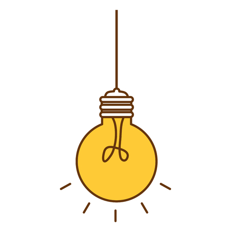 Bulb light hanging idea icon vector illustration design.