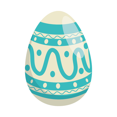painted easter egg with ethnicity pattern vector illustration design