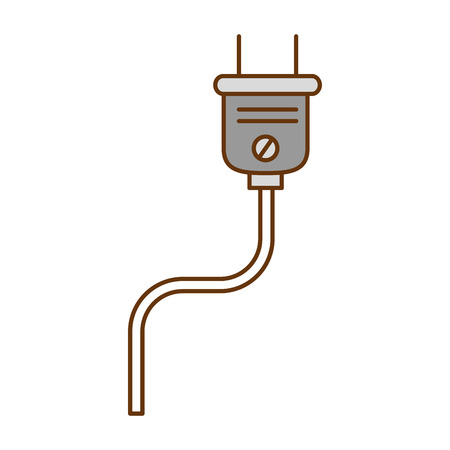 energy plug connector icon vector illustration design Ilustração
