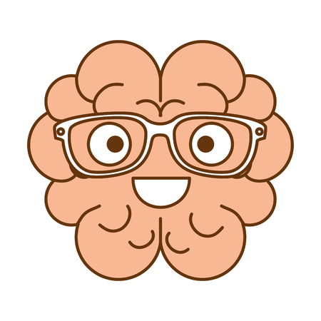 brain with glasses character vector illustration design Stock Vector - 99243712