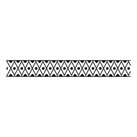 monochromatic lines frame ethnicity icon vector illustration design Illustration