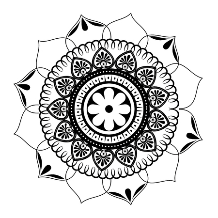 monochrome and circular mandala vector illustration design Stockfoto - 99244689