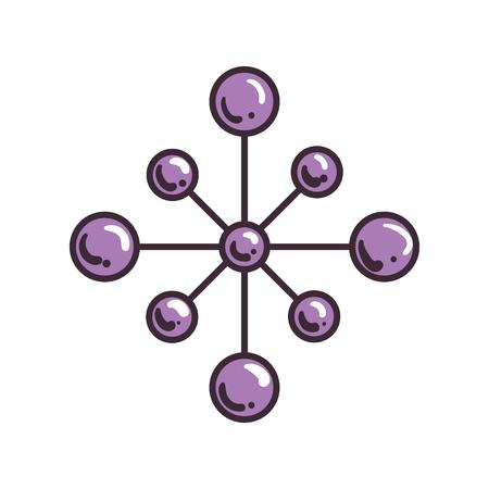 star with balls ethnicity decoration vector illustration design Stock Illustratie