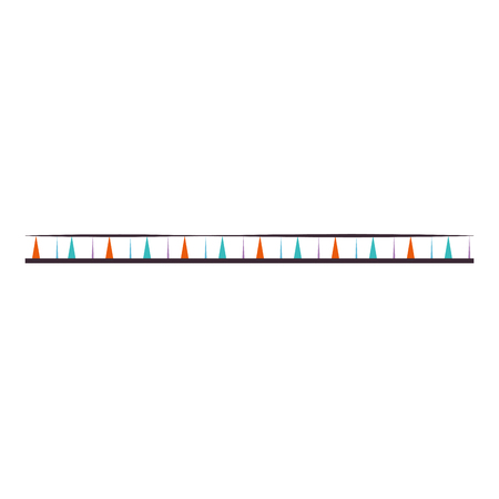 colorful lines frame ethnicity icon vector illustration design