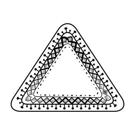 monochrome and triangular mandala vector illustration design Illustration
