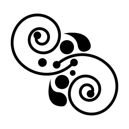 spiral lines ethnicity decoration vector illustration design