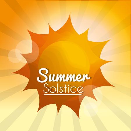 summer solstice sun rays season climate blurred background vector illustration Vettoriali