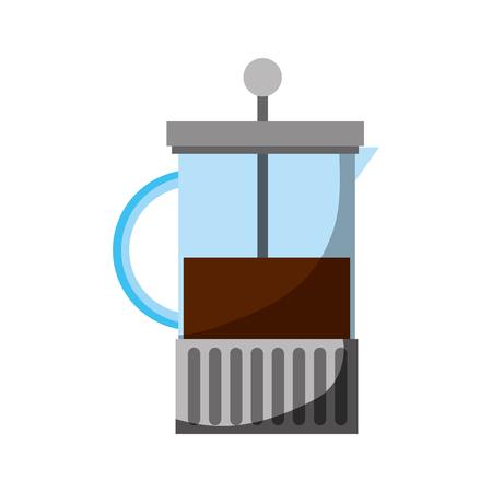 フランスメーカーコーヒーフレッシュアロマベクターイラスト