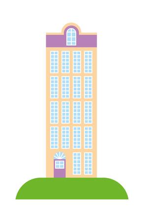 High building architecture urban image vector illustration Illustration
