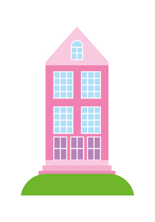 High building architecture urban image vector illustration  イラスト・ベクター素材